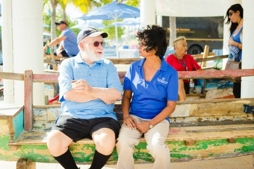 Mr Williams on a Bench Home Care Florida